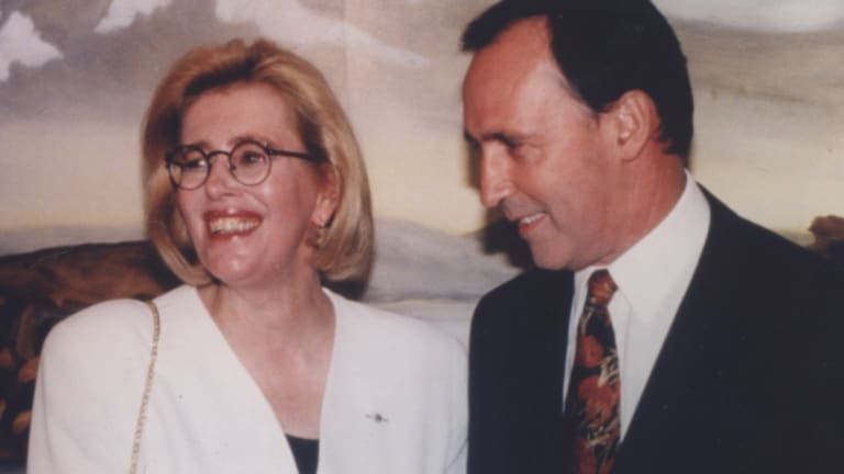 Anne Summers with Paul Keating in Sydney in 1994, at the launch by the then PM of a new edition of her 1975 book, Damned Whores and God's Police.