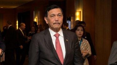 Indonesian Chief Security Minister Luhut Pandjaitan.