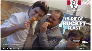 The advertisements appear on channels including the ABC's most-subscribed Triple J.