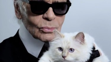Karl Lagerfeld and Choupette.
