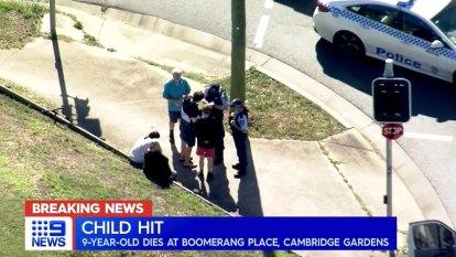 Child killed in truck crash in Sydney's west