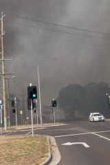 Thick smoke hovers over Seaford.