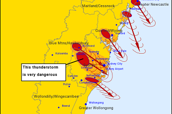 A tornado warning was issued for Greater Sydney.