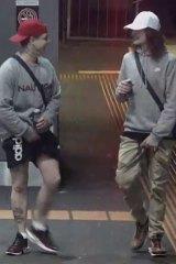 The two men police were seeking.