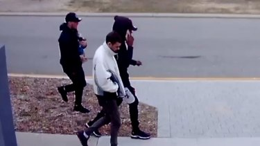 The three men sought by police over a terrifying home invasion and robbery in Yokine.