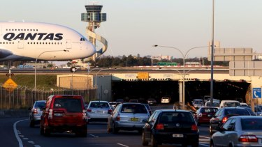 Congestion on roads around the Sydney Airport is one of passengers' biggest gripes.