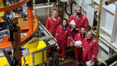 University students join the expedition on board the Stril Explorer.