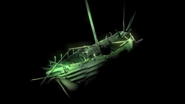 Photogrammetric model of the ship's stern.