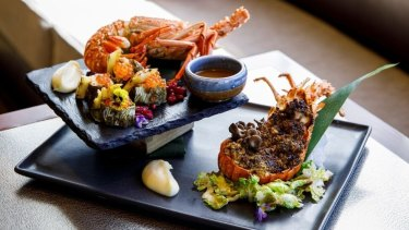 Crown Perth restaurants are featuring signature lobster dishes, including this epic $95 design at Nobu.