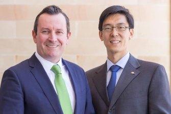 Premier Mark McGowan with Labor MP Pierre Yang.