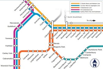 The 'preferred option' is for trains to run between Liverpool and the CBD via Regents Park.