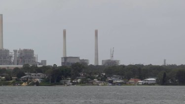 Warnings: Vales Point Power Station on the shores of Lake Macquarie.