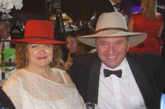 Gina Rinehart with Barnaby Joyce at the celebrations in 2017.