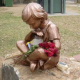 The missing memorial statue.