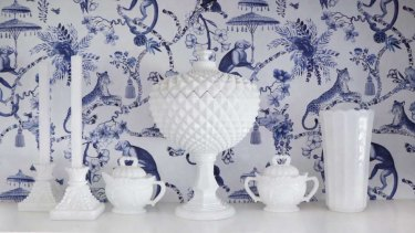 "Justina Uram-Mubangu inherited this milk glass from her grandmother. She considers herself ""a lover of timeless decor""."