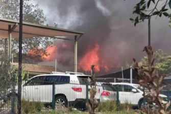 A Fire and Rescue NSW spokesperson said that nobody was in the hall at the time.