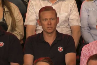 Firefighter James Lavery wanted to know why the PM hadn't met with fire chiefs.
