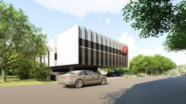 The development application proposed to increase parking on the site to 1732.