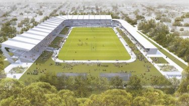New look: The proposal for an updated Brookvale Oval would incorportae a centre of excellence.