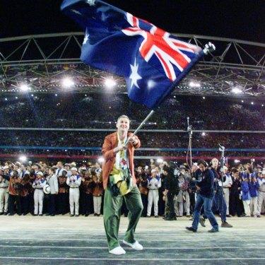 Andrew Gaze was Australia's flag-bearer at the opening ceremony.