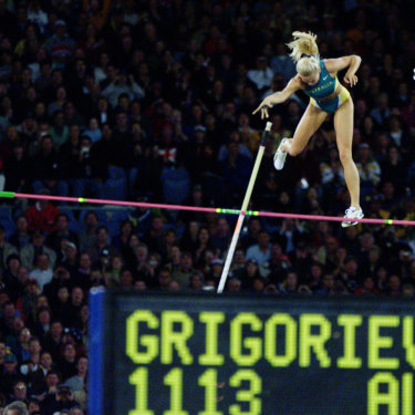 Tatiana Grigorieva flies her way to silver.