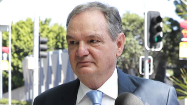 Paul Pisasale arrives at Brisbane Magistrates Court in November, 2017.