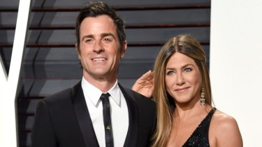 Justin Theroux and Jennifer Aniston at the Vanity Fair Oscar Party in 2017.