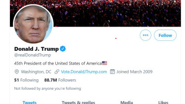 Donald Trump's Twitter account has been permanently suspended.