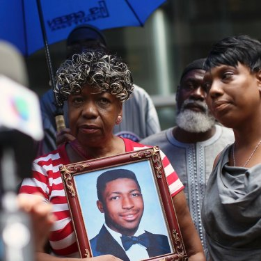 Gwen Carr, mother of Eric Garner, who died after a police officer used a choke hold to subdue him in 2014 in New York.