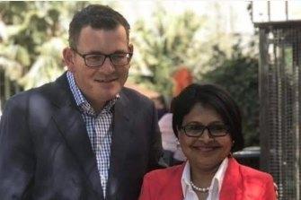 Western suburbs MP Kaushaliya Vaghela with Premier Daniel Andrews