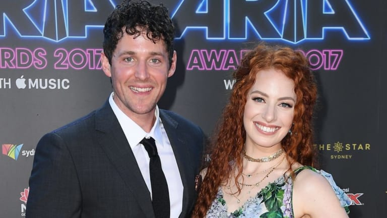 Lachlan Gillespie and Emma Watkins of The Wiggles.
