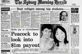 Wendy Hu was celebrated on the front page of the Herald with James Smelt, who also came first.