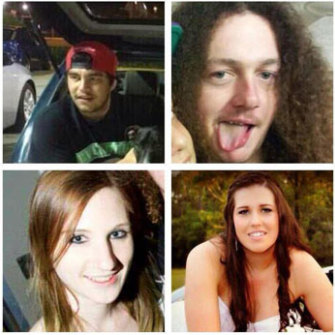 Clockwise from top left: Kody Holland-Williams, Allan Sullivan, Tiana Williams, and Natasha Maggs.