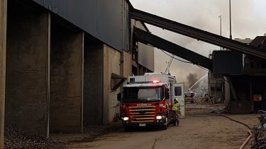 A fire at a steel recycling facility in Laverton North is the second industrial fire in the area in a week.