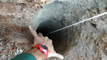 A toddler fell down this 100-metre-deep borehole in the town of Totalan in Spain.