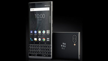The Blackberry Key2 looks a bit different than many current smartphones.