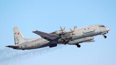 A Russian Air Force Ilyushin Il-20 plane.