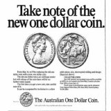 Ad for new dollar coin, Sydney Morning Herald, May 14, 1984