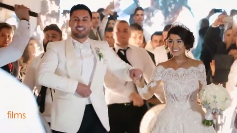In happier times: Salim Mehajer and Aysha Learmonth on their wedding day on Saturday, August 15, 2015.