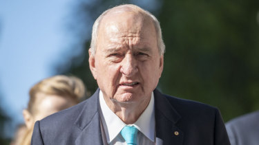 Alan Jones is in hospital for treatment of severe back pain.