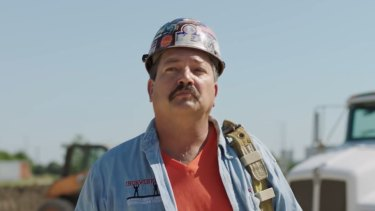 Randy Bryce, aka Ironstache, is campaigning for the Winscosin seat of US House speaker Paul Ryan.