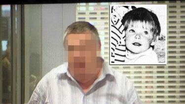 The man, who cannot be named, pleaded not guilty last year to murdering three-year-old Cheryl Grimmer (inset).