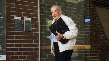David Joseph Perrett outside court in Armidale last year.