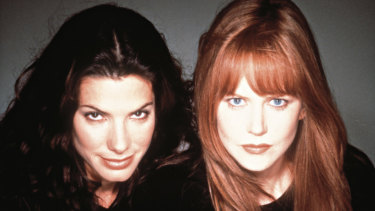 Nicole Kidman and Sandra Bullock in Practical Magic, VREG's first release.