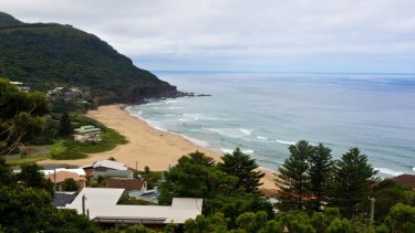 Stanwell Park Beach is about 27 kilometres north of Wollongong.