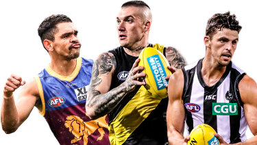 Charlie Cameron, Dustin Martin and Scott Pendlebury.