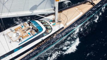 Norwegian billionaire's do it in style. Superyacht Aquijo is causing a stir around Rose Bay.