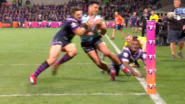 'Collision': The Storm plan to argue Slater's hit on Sosaia Feki constituted a collision, not a shoulder charge.