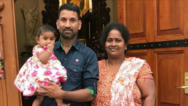 Priya and Nadesalingam with Tharunicaa.