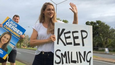 The LNP's Laura Gerber is battling to hold Currumbin on the Gold Coast.